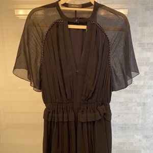 Isabel Marant pleated silk dress